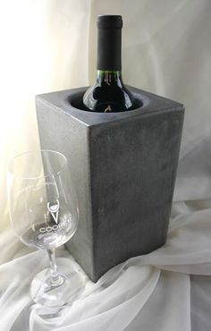 Concrete Wine Cooler by concreteIDEASva on Etsy