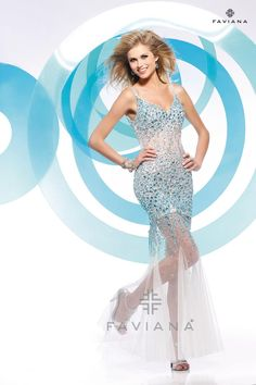 Gorgeous A-line Sleeveless 2013 Top Cocktail/party/club Dresses Faviana Glamour S7153 $389.99 Faviana Dresses