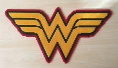 Wonder Woman logo perler beads by Szilvi