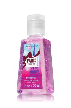 Went with this as a party favor... Paris Amour PocketBac® Sanitizing Hand Gel - Anti-Bacterial - Bath & Body Works