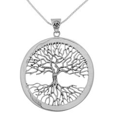 Carolina Glamour Collection Sterling Silver Celtic Tree of Life Pendant #bisuteria #online #barata #bisuteriaonlinebarata #bisuteriabarata #bisuteirasbarata #argentina