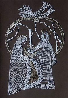 paličkovaná krajka techniky - Hledat Googlem Bobbin Lace Patterns, Coloring Book Art, Hairpin Lace, Lacemaking, Needle Lace, Antique Lace, Christmas Knitting, Lace Knitting, Irish Crochet