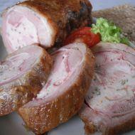 Domácí plněný bůček Smoker Recipes, Pork Recipes, Chorizo, Tapas, Baked Potato, Ham, Sausage, Bacon, Food And Drink