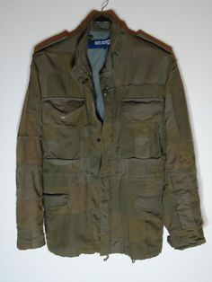 JUNYA WATANABE RECYCLED PATCHWORK MILITARY JACKET BY COMME DES GARCONS MAN