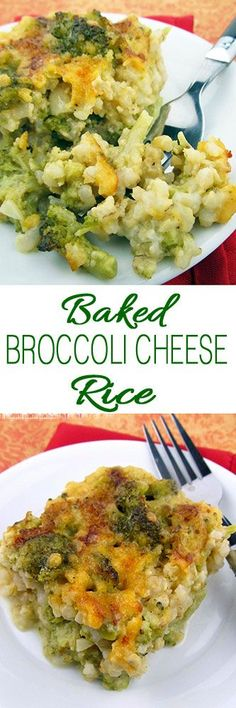 Baked Broccoli Cheese Rice #thanksgivingdinner #thanksgivingsides #thanksgivingcasseroles #thanksgiving
