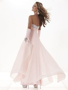 A stunning pink prom dress from Tiffany/Eternity Prom