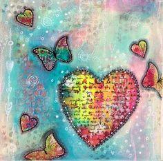 a sprinkle of imagination: Rainbow Heart