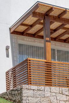 Roof Terrace Design, Balcony Railing Design, Patio Design, Design Diy, Pergola Patio, Backyard Patio, Home Room Design, Home Interior Design, Balkon Design