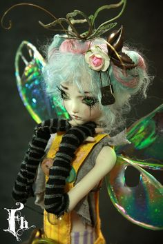 Butterfly Fairy Doll , one of a kind dolls by Aidamaris Roman Forgotten Hearts, via Flickr.