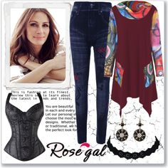 How To Wear Asymmetrical Longline T Shirt-1 (top set 13.3.) Outfit Idea 2017 - Fashion Trends Ready To Wear For Plus Size, Curvy Women Over 20, 30, 40, 50