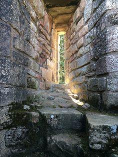 Window in Kildrummy Castle, Aberdeenshire, Scotland.