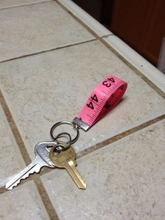 Measuring Tape Keychain. $6.00, via Etsy.