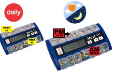 medication pill box with alarm  sc 1 st  Pinterest : weekly pill box with alarm - Aboutintivar.Com