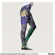 Dark Grunge Mermaid Scale Leggings