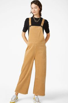 43f70429bb34 Corduroy dungarees - Beyond beige - Jumpsuits