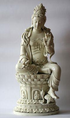 "thirty-six-stratagems: "" White QuanYin - Ming Dynasty "" Buddha Buddhism, Buddhist Art, China, Chinese Ceramics, Guanyin, Chinese Antiques, Ancient Art, Ganesha, Chinese Art"