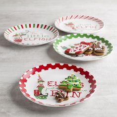 entertain this season with our christmas porcelain side plates each set comes with four festive