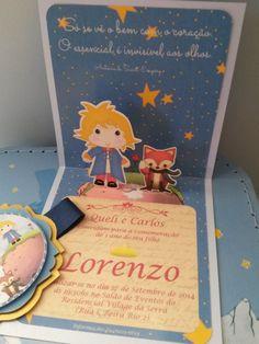 Convite 3D Pequeno Príncipe