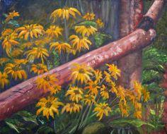 WYOMING DAISIES an original oil painting as seen in by KrugsStudio, $499.99