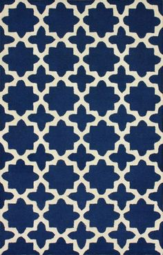 Rugs USA Tuscan Terali Moroccan Trellis Navy Rug now 75% off!