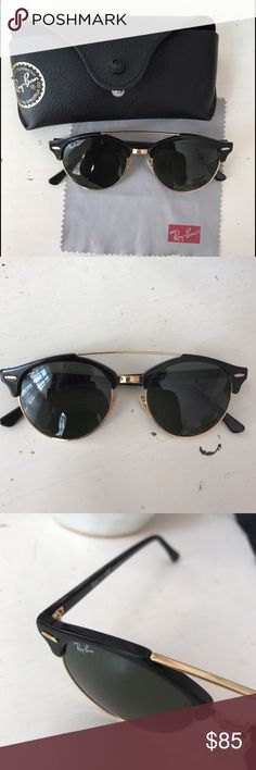 Ray-Ban Sunglasses In almost perfect condition. Only worn few times & bought last summer in sunglass hut. I can't remember the style name and they aren't online anywhere anymore, but they're very similar to the gatsby. Ray-Ban Accessories Sunglasses