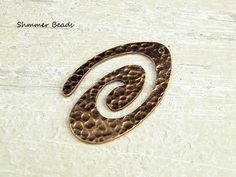 Copper Hammered Swirl Pendant-Antique Copper  27/47mm #Unbranded #Boheiman