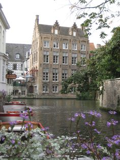 House along canal in Bruges, Belgium