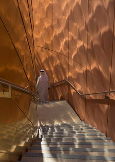 The national pavilion for the United Arab Emirates occupies a site close to the centre of the Milan Expo and is accessed via its main circulation axis.