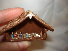 Miniature Nativity made from Grains of Rice. So cute!!!