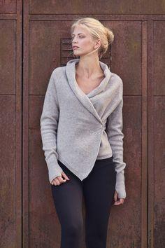 Wool cardigan Handmade wool wrap Natural beige wool