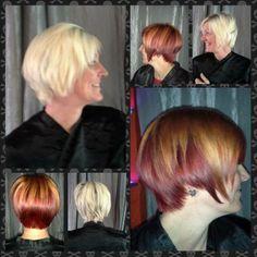 By Loni at Belknap  #Hair #Stylist #Hairstylist #Hairstylists #Stylists #Pravana #Neuma #Aquage #KevinMurphy #Pretty #Fierce #SalonPurple #Vivids #Vivid #Color #haircolor #hairart #highlights