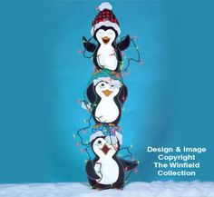 Tangled Penguins Woodcraft Pattern