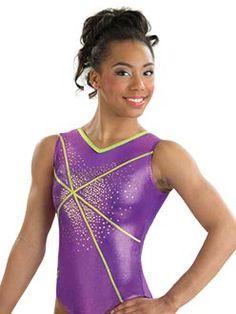 Purple and Green Fairy Dust Fantasy Tank Gymnastics Leotard from GK Elite