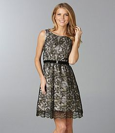 Rehearsal Dinner Dress- Jessica Simpson Lace Belted Dress $88.80