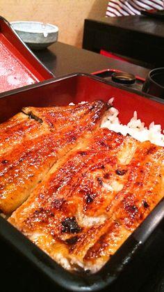 Japanese Broiled eels on rice (Una-ju)