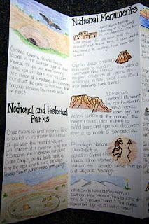 travel brochure from theinspiredclassroomblogspot #handwritten