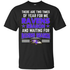 Baltimore Ravens Shirts Two Times Ravens Season And Waiting For Ravens Season T-Shirts Hoodies Sweatshirts