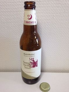 St.Valentine's Day Beer Japan Sweet  Bottle 330ml empty bottle glass with cap