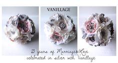 bridal bouquet silver gray blush ivory wedding brooch rhinestone flowers handmade accesories vanillage anniversary Ivory Wedding, Bouquet, Blush, Anniversary, Brooch, Bridal, Gray, Flowers, Silver