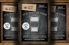 Coffee Shop Promotion Flyer Template by Hotpin on Creative Market
