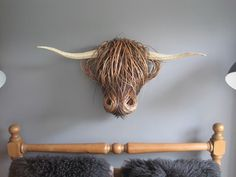 result for woven cow heads Willow Weaving, Basket Weaving, Animal Sculptures, Sculpture Art, Driftwood Sculpture, Twig Art, Traditional Baskets, Cow Head, Faux Taxidermy
