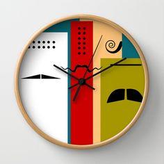 """Les Grands Chefs (della serie """"La Teoria del Colore"""") Wall Clock by Fernando Vieira"""