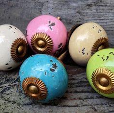 ceramic drawer cabinet knobs by hunter jones   notonthehighstreet.com