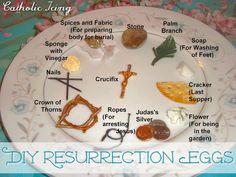 How To Make Resurrection Eggs- 2 Dozen Ideas! Easter Crafts For Kids, Diy For Kids, Easter Calendar, Easter Symbols, Resurrection Eggs, Holy Thursday, Catholic Crafts, Easter Story, Easter Religious