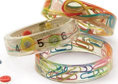 Making Resin Jewelry, Article 4: Resin Bangles Show Off Your Snippets by Heidi Boyd