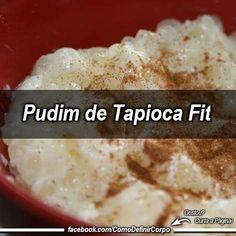 Pudim de Tapioca Fit ;) . . Ingrediente: . . 210 g de goma de tapioca; 2 colheres de sopa de coco ralado sem açúcar; 2 colheres de sobremesa de adoçante culinário; 100 ml de leite de coco light; 1 colher de sopa de leite de soja em pó; Canela e coco ralado para decorar. . . Modo de Preparo: . . Ferva uma panela pequena de água; Em um recipiente alto coloque a tapioca e o leite em pó; Despeje a água fervida sobre a tapioca até cobrir e mexa bastante até formar uma massa de aspecto grudento…