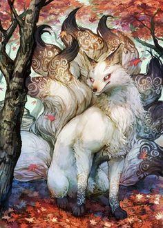 Japanese Nine-Tailed Fox Legend | tumblr_me7e7xa2mJ1rjki8po1_500.jpg
