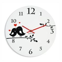Biele detské hodiny s motívom vtáčikov Clock, Decor, Watch, Decoration, Clocks, Decorating, Deco