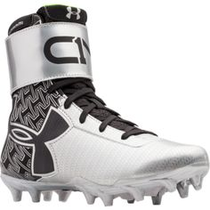 Under Armour MC - Boys' Grade School - Cam Newton - Black / Silver Youth Football Gear, Football Cleats, Football Stuff, Softball, Baseball, Sport Outfits, Kids Outfits, High Top Sneakers, Sneakers Nike