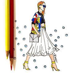 #fashiondrawing #dashagold #fashionillustration #pencildrawing